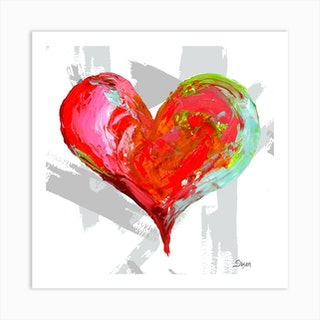 Colorful Heart Art Print