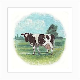 Cow In A Circle Art Print