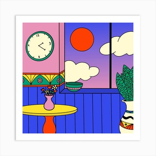 What Time Is It Square Art Print