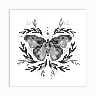 Mystic Butterfly Square Art Print