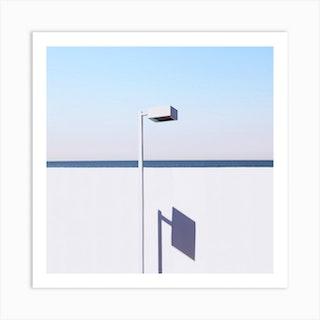 Square Lamp Square Art Print