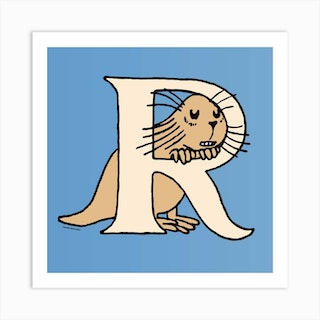Moomin Collection Alphabet Letter R Art Print