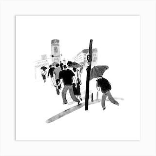 Paris On A Rainy Day Art Print