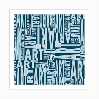 Imperial Blue Art Square Art Print