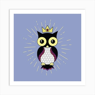 All Seeing Owl Square Art Print