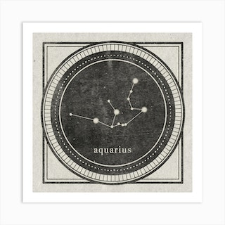 Zodiac Aquarius Art Print