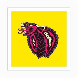 Cobra Square Art Print