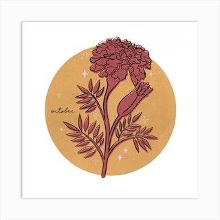 October Birth Flower Art Print