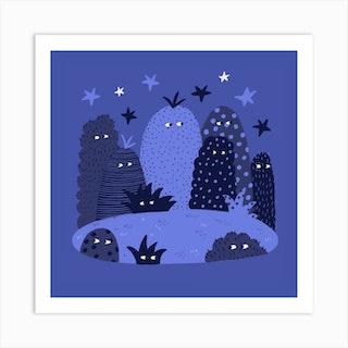 Stars In The Night  Square Art Print