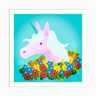 Unicorn Square Art Print