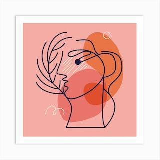 Whisperer Square Art Print