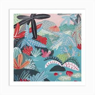 Jungle Scene Square Art Print