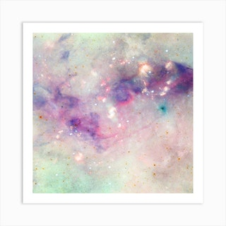 The Colors Of The Galaxy Square Art Print
