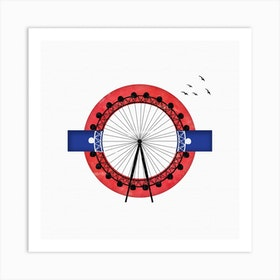 London Eye Con Square Art Print