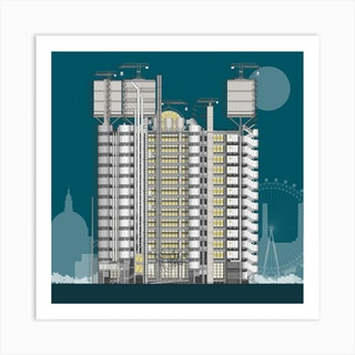 Lloyds Building Blue Art Print