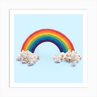 Candy Rainbow Square Art Print