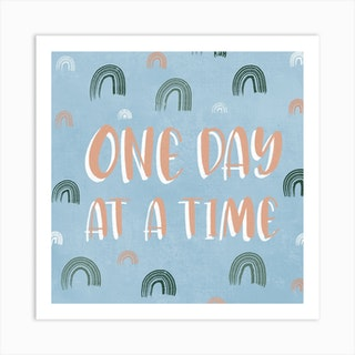 One Day Square Art Print