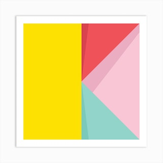 Abstract Pastel Perspective Iii Square Art Print