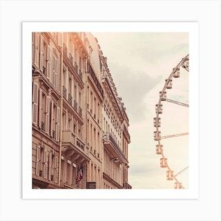 Paris Ferris Wheel Square Art Print