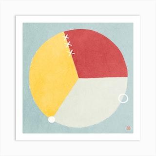 Three Parts Minimalist Mandala Art Print