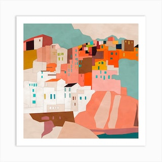 Vernazza Square Art Print