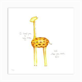 Giraffe Love Art Print