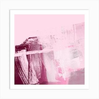 Pink Organic Strokes 3 Art Print