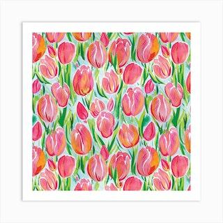 Watercolour Tulip Art Print