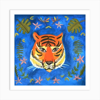 Eye Of The Tiger Square Art Print