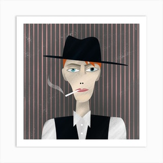 David Bowie Thin White Duke Art Print
