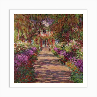 A Pathway In Monets Garden, 1902 by Claude Monet Art Print