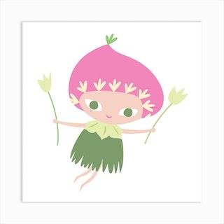 Flower Fairy I Art Print