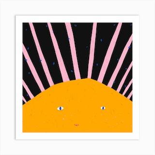 Summer Sun Square Art Print