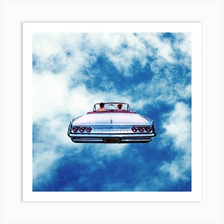 Cloud Car Square Art Print
