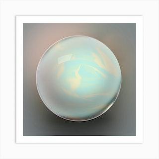 Glass Marble Art Print