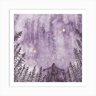 Night Sky Square Art Print