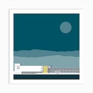 De La Warr Pavilion Blue Art Print