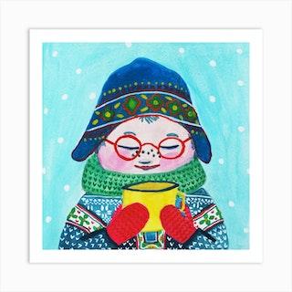 Winter Sweater Wheater Art Print