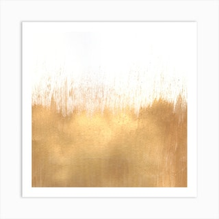 Brushed Gold Square Art Print