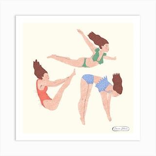 Somersault Ladies Square Art Print