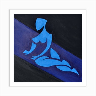 Study For Figure On Inclined Space Art Print
