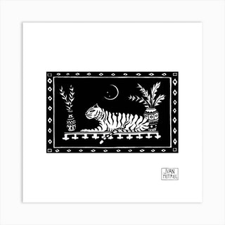 Bengal Tiger Square Art Print