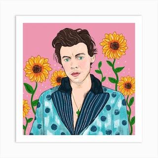 Harry Styles Square Art Print