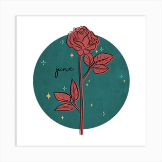 June Birth Flower Square Art Print