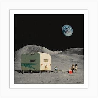 Space Camping Art Print