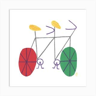 Bike 10 Square Art Print