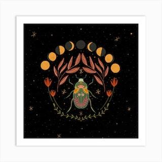 Spirit Animals Beetle Art Print
