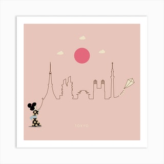 Tokyo Skyline Kite Art Print