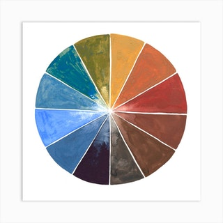 Earth Color Wheel Square Art Print