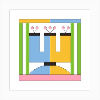 Vase 3 Square Art Print